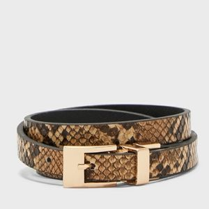 Aldo▪︎Snakeskin Skinny Belt